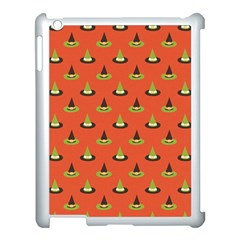 Hat Wicked Witch Ghost Halloween Red Green Black Apple Ipad 3/4 Case (white)