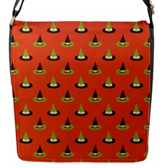 Hat Wicked Witch Ghost Halloween Red Green Black Flap Messenger Bag (s) by Alisyart