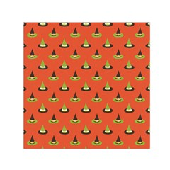 Hat Wicked Witch Ghost Halloween Red Green Black Small Satin Scarf (square)