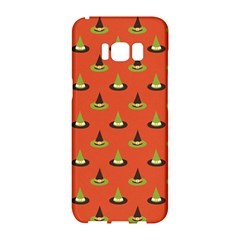 Hat Wicked Witch Ghost Halloween Red Green Black Samsung Galaxy S8 Hardshell Case  by Alisyart