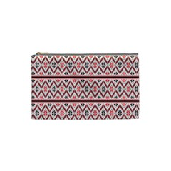 Red Flower Star Patterned Cosmetic Bag (small)