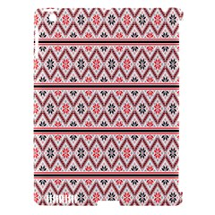 Red Flower Star Patterned Apple Ipad 3/4 Hardshell Case (compatible With Smart Cover)