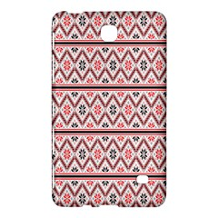 Red Flower Star Patterned Samsung Galaxy Tab 4 (7 ) Hardshell Case  by Alisyart