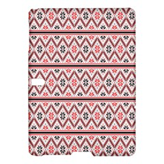 Red Flower Star Patterned Samsung Galaxy Tab S (10 5 ) Hardshell Case