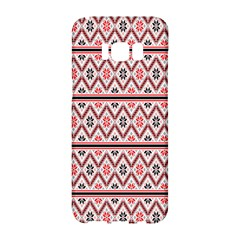 Red Flower Star Patterned Samsung Galaxy S8 Hardshell Case  by Alisyart