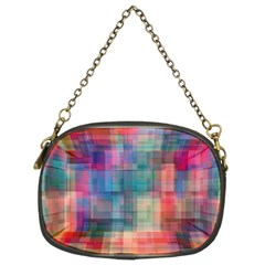 Rainbow Prism Plaid  Chain Purses (two Sides)  by KirstenStar