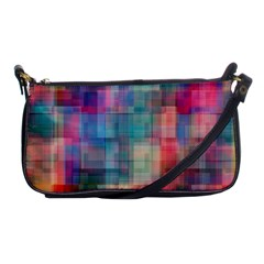 Rainbow Prism Plaid  Shoulder Clutch Bags by KirstenStar