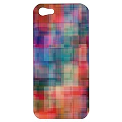 Rainbow Prism Plaid  Apple Iphone 5 Hardshell Case by KirstenStar