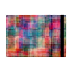Rainbow Prism Plaid  Apple Ipad Mini Flip Case by KirstenStar