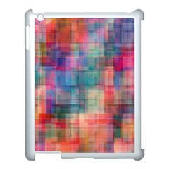 Rainbow Prism Plaid  Apple Ipad 3/4 Case (white) by KirstenStar