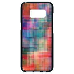 Rainbow Prism Plaid  Samsung Galaxy S8 Black Seamless Case by KirstenStar