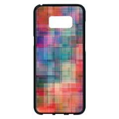Rainbow Prism Plaid  Samsung Galaxy S8 Plus Black Seamless Case by KirstenStar