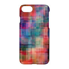 Rainbow Prism Plaid  Apple Iphone 8 Hardshell Case by KirstenStar