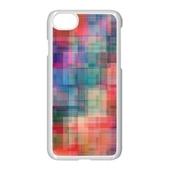 Rainbow Prism Plaid  Apple Iphone 8 Seamless Case (white) by KirstenStar