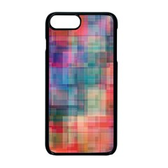 Rainbow Prism Plaid  Apple Iphone 8 Plus Seamless Case (black) by KirstenStar