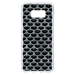 Scales3 Black Marble & Ice Crystals (r) Samsung Galaxy S8 Plus White Seamless Case by trendistuff