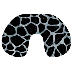 Skin1 Black Marble & Ice Crystals Travel Neck Pillows by trendistuff