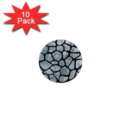 Skin1 Black Marble & Ice Crystals (r) 1  Mini Magnet (10 Pack)  by trendistuff
