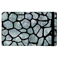 Skin1 Black Marble & Ice Crystals (r) Apple Ipad 2 Flip Case by trendistuff