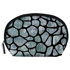 Skin1 Black Marble & Ice Crystals (r) Accessory Pouches (large)  by trendistuff