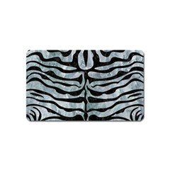 Skin2 Black Marble & Ice Crystals Magnet (name Card) by trendistuff