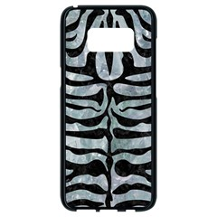 Skin2 Black Marble & Ice Crystals Samsung Galaxy S8 Black Seamless Case by trendistuff
