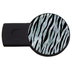 Skin3 Black Marble & Ice Crystals Usb Flash Drive Round (2 Gb) by trendistuff