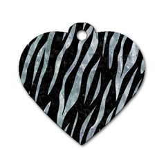 Skin3 Black Marble & Ice Crystals (r) Dog Tag Heart (one Side) by trendistuff