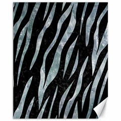 Skin3 Black Marble & Ice Crystals (r) Canvas 11  X 14   by trendistuff