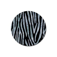 Skin4 Black Marble & Ice Crystals Rubber Round Coaster (4 Pack)  by trendistuff