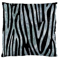 Skin4 Black Marble & Ice Crystals Large Flano Cushion Case (one Side) by trendistuff
