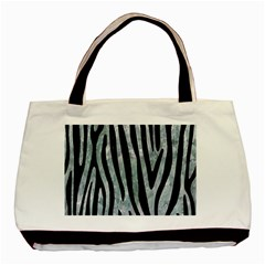 Skin4 Black Marble & Ice Crystals (r) Basic Tote Bag (two Sides) by trendistuff