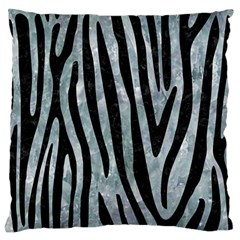 Skin4 Black Marble & Ice Crystals (r) Large Flano Cushion Case (one Side) by trendistuff