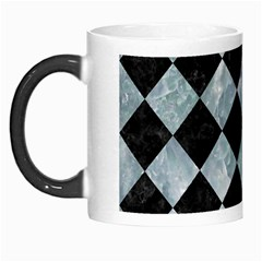 Square2 Black Marble & Ice Crystals Morph Mugs by trendistuff