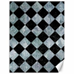Square2 Black Marble & Ice Crystals Canvas 12  X 16   by trendistuff