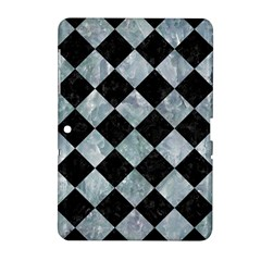 Square2 Black Marble & Ice Crystals Samsung Galaxy Tab 2 (10 1 ) P5100 Hardshell Case  by trendistuff