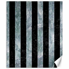 Stripes1 Black Marble & Ice Crystals Canvas 8  X 10  by trendistuff