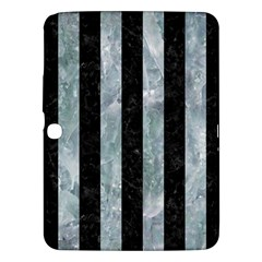 Stripes1 Black Marble & Ice Crystals Samsung Galaxy Tab 3 (10 1 ) P5200 Hardshell Case  by trendistuff
