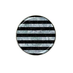 Stripes2 Black Marble & Ice Crystals Hat Clip Ball Marker (10 Pack) by trendistuff