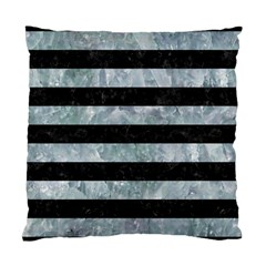 Stripes2 Black Marble & Ice Crystals Standard Cushion Case (two Sides) by trendistuff
