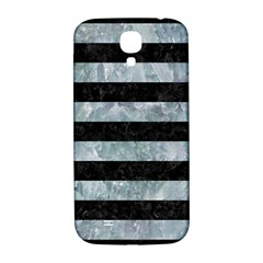 Stripes2 Black Marble & Ice Crystals Samsung Galaxy S4 I9500/i9505  Hardshell Back Case by trendistuff
