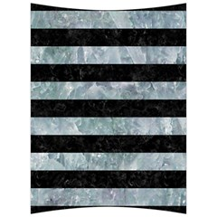 Stripes2 Black Marble & Ice Crystals Back Support Cushion by trendistuff