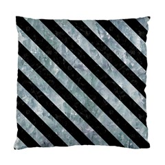 Stripes3 Black Marble & Ice Crystals Standard Cushion Case (two Sides) by trendistuff