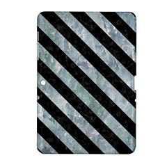 Stripes3 Black Marble & Ice Crystals Samsung Galaxy Tab 2 (10 1 ) P5100 Hardshell Case  by trendistuff