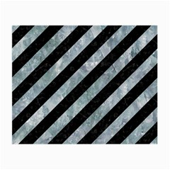 Stripes3 Black Marble & Ice Crystals (r) Small Glasses Cloth by trendistuff