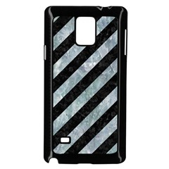 Stripes3 Black Marble & Ice Crystals (r) Samsung Galaxy Note 4 Case (black) by trendistuff