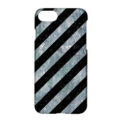 Stripes3 Black Marble & Ice Crystals (r) Apple Iphone 7 Hardshell Case by trendistuff