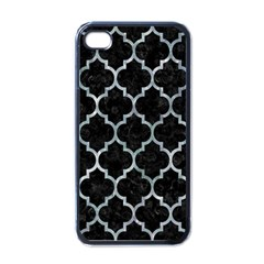 Tile1 Black Marble & Ice Crystals (r) Apple Iphone 4 Case (black) by trendistuff