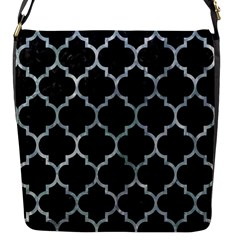 Tile1 Black Marble & Ice Crystals (r) Flap Messenger Bag (s) by trendistuff
