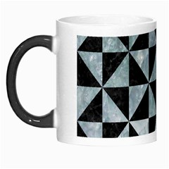 Triangle1 Black Marble & Ice Crystals Morph Mugs by trendistuff